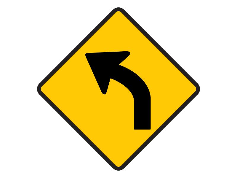 ป้ายทางโค้งซ้าย